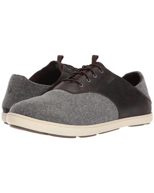 Olukai - Gray Nohea Moku Hulu (dark Roast/charcoal) Men's Lace Up Casual Shoes for Men - Lyst