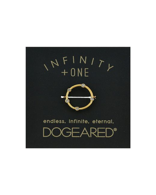 Dogeared - Metallic Infinity + One, Halo W/ Crystal Ring - Lyst