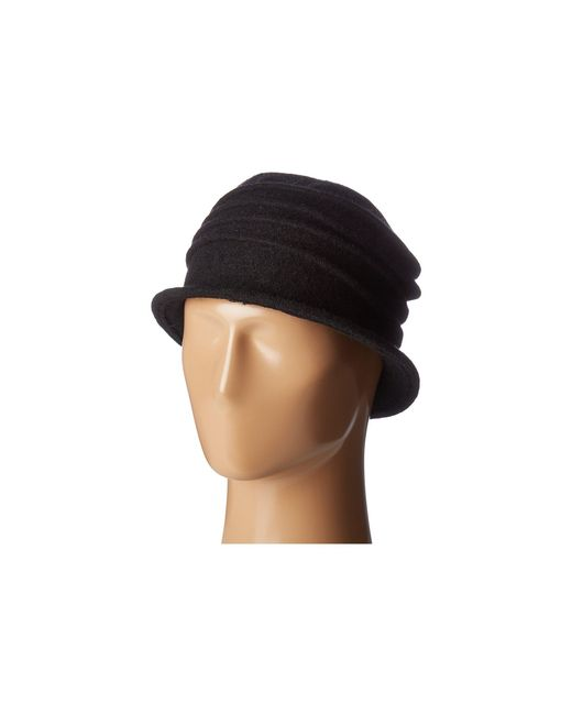San Diego Hat Company - Black Cth8089 Soft Knit Cloche With Accordion Detail (grey) Knit Hats - Lyst