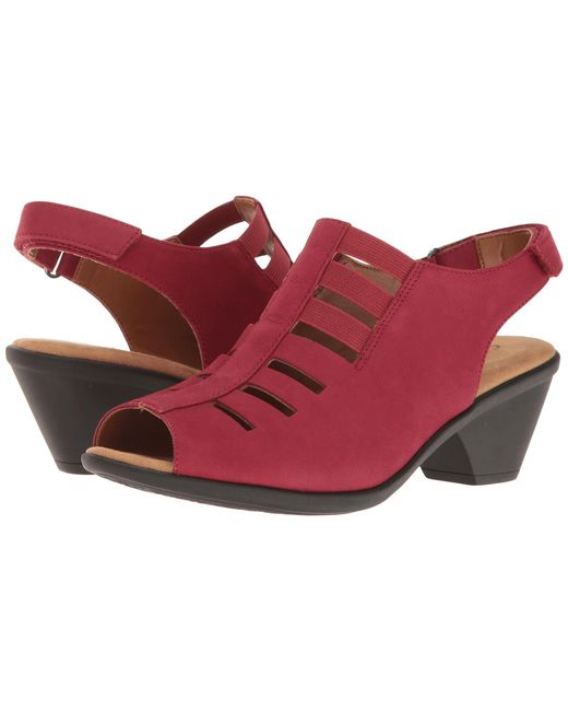 Comfortiva - Red Faye (smoke Distressed Foil Suede) Women's 1-2 Inch Heel Shoes - Lyst