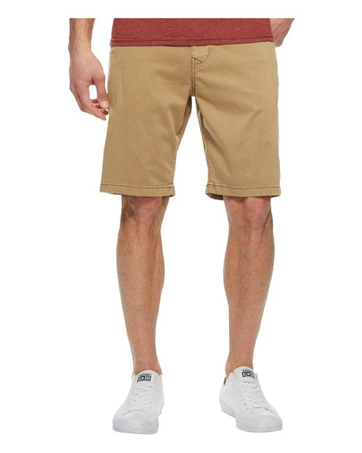 Lucky Brand - Natural Stretch Sateen Flat Front Shorts (twill) Men's Shorts for Men - Lyst