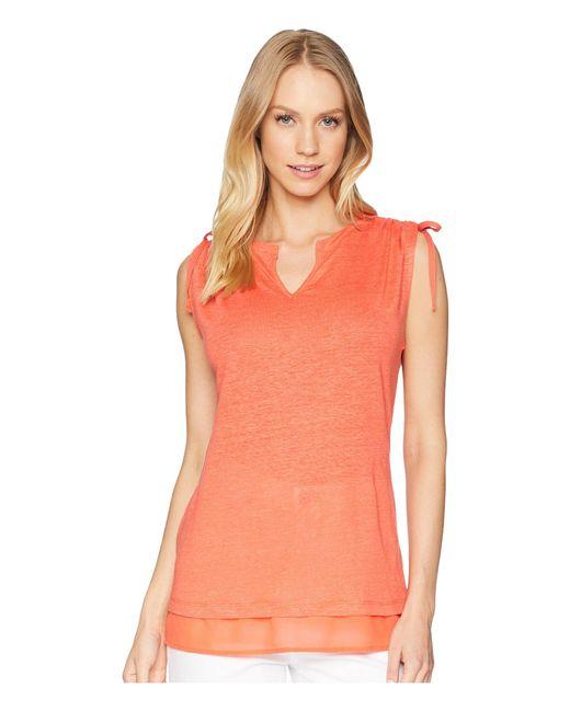 Sanctuary - Orange Nora Mix Tee (adobe) Women's T Shirt - Lyst