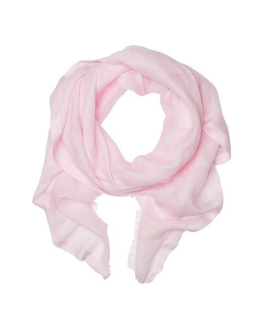 Love Quotes - Pink Linen Eyelash Scarf - Lyst