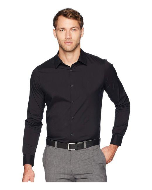 Calvin Klein Black The Stretch-cotton Shirt for men