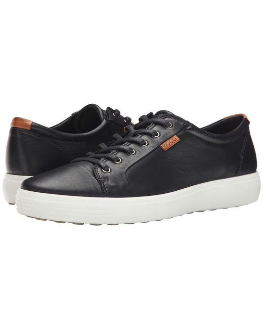 Ecco Black Soft 7 Sneaker for men
