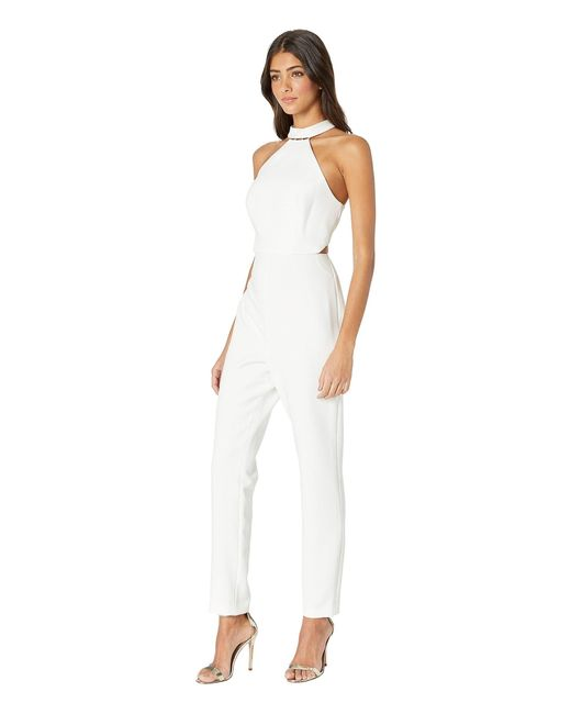 4d780bf6c98 ... BCBGMAXAZRIA - Beaded Halter Cropped Jumpsuit (off-white) Women s  Jumpsuit   Rompers One ...