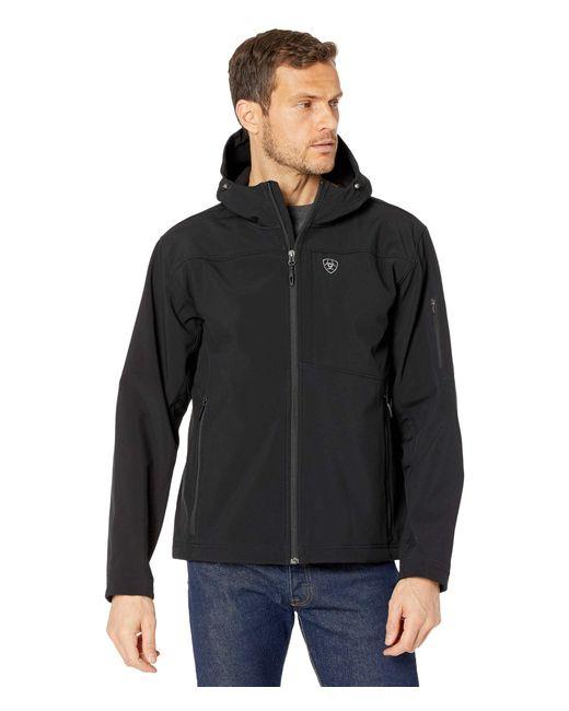 Ariat Black Vernon Hooded Softshell Water Resistant Jacket for men