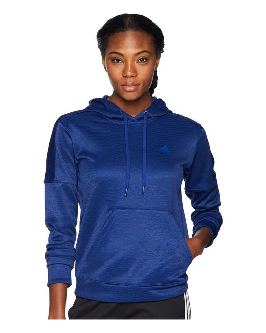 Adidas - Blue Team Issue Pullover Hoodie (real Lilac) Women's Sweatshirt - Lyst