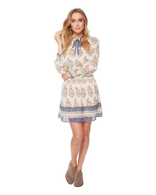 Lucky Brand - Drop Waist Printed Dress (natural Multi) Women's Dress - Lyst