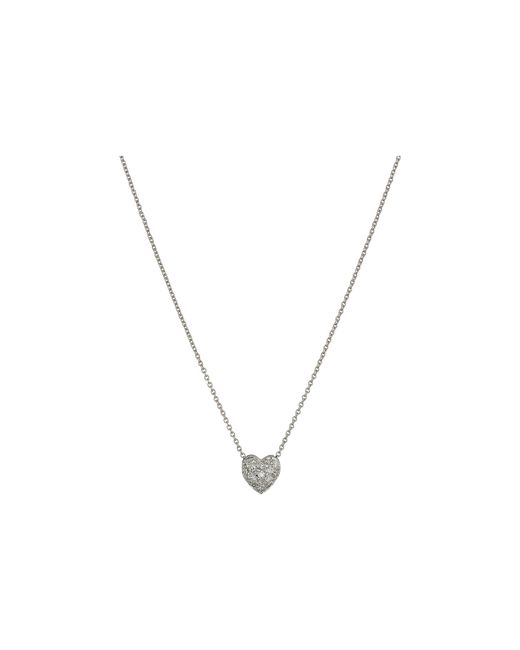 Roberto Coin - Metallic Tiny Treasures Puffed Heart Pendant With Diamonds - Lyst
