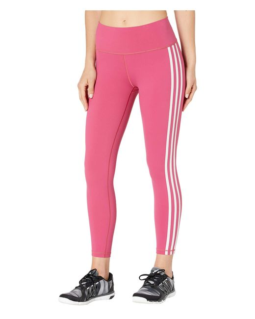 Adidas Pink Believe This 3-stripes 7/8 Tights Casual Pants