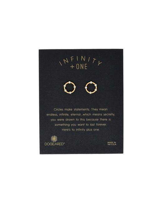 Dogeared - Metallic Infinity + One, Small Halo Stud Earrings - Lyst
