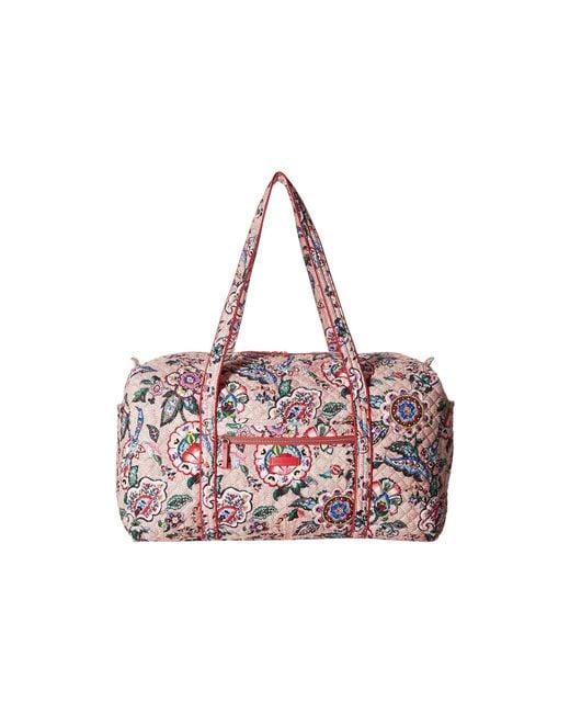 99c233045e Vera Bradley - Pink Iconic Large Travel Duffel (classic Black) Duffel Bags  - Lyst ...