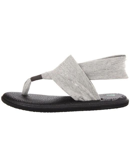 a7fef98df30949 ... Lyst Sanuk - Gray Yoga Sling 2 (charcoal) Women s Sandals ...