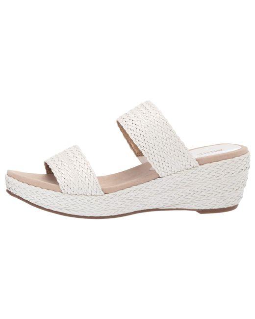 945bc61f3ec8 Lyst - Anne Klein Zala Platform Sandal (black) Women s Shoes in White
