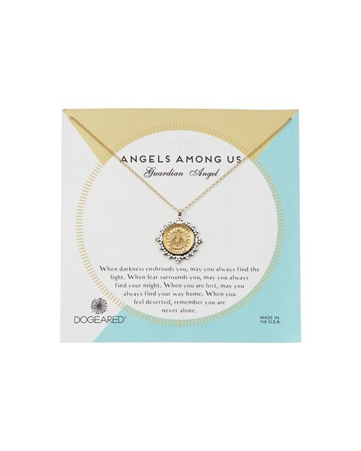 Dogeared - Metallic Angels Among Us Necklace (gold Dipped) Necklace - Lyst