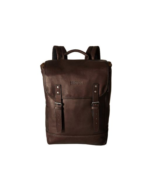 Kenneth Cole Reaction Brown Colombian Leather - Computer Backpack for men