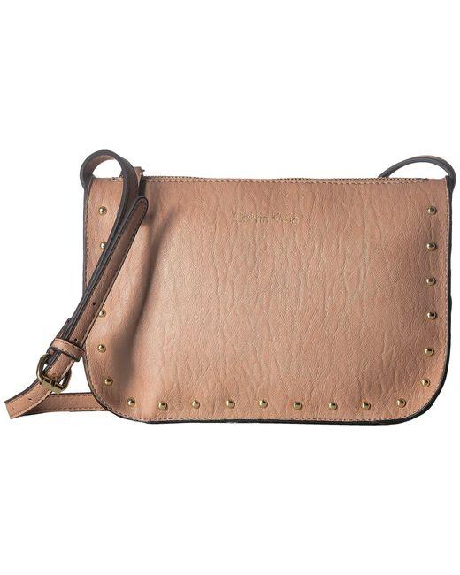 Calvin Klein - Multicolor Novelty Studded Crossbody (cashew) Cross Body Handbags - Lyst