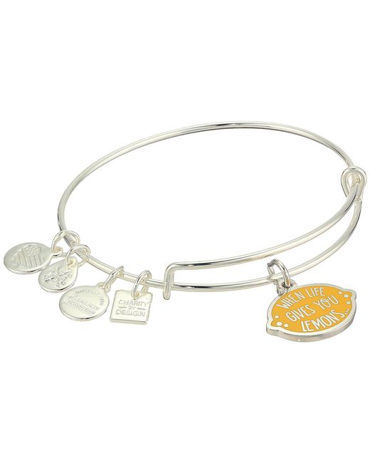 ALEX AND ANI - Metallic Charity By Design When Life Gives You Lemons Bangle (shiny Gold) Bracelet - Lyst