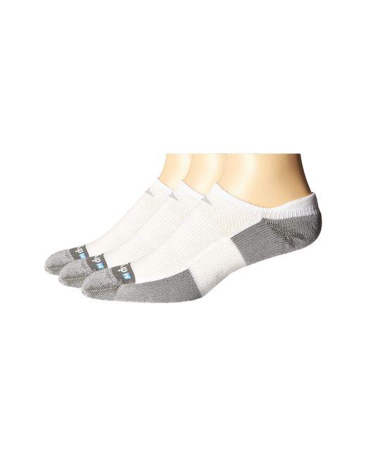 Drymax Sport - White Tennis No Show Tab 3-pair Pack - Lyst