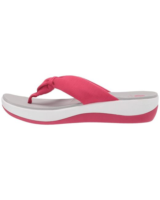 0ef607c40d17 ... Lyst Clarks - Pink Arla Glison (red Printed Fabric) Women s Sandals ...