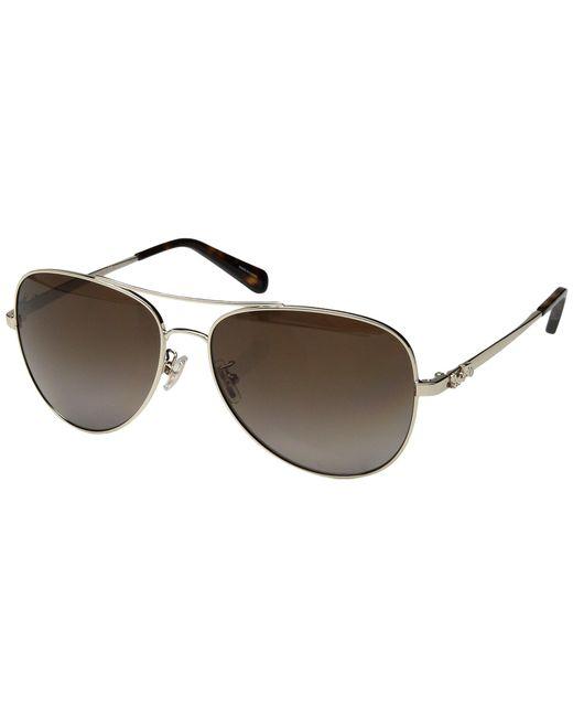 COACH - 0hc7074 (light Gold/brown Gradient Polarized) Fashion Sunglasses - Lyst
