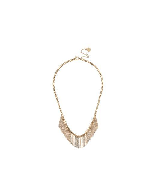 AllSaints Black Short Fringe Frontal Necklace