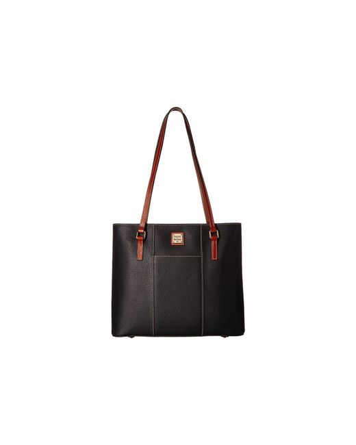 Dooney & Bourke - Black Lexington Shopper (caramel) Tote Handbags - Lyst