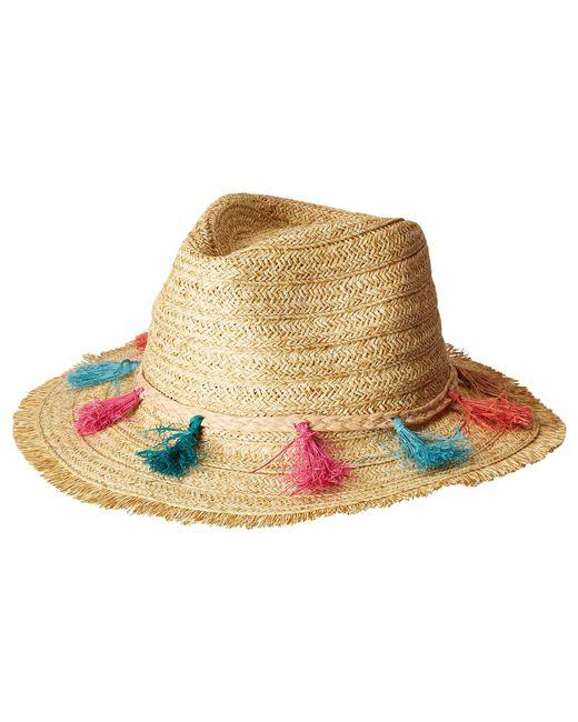San Diego Hat Company - Natural Ubf1104os Fedora W/ Multi Color Tassels - Lyst
