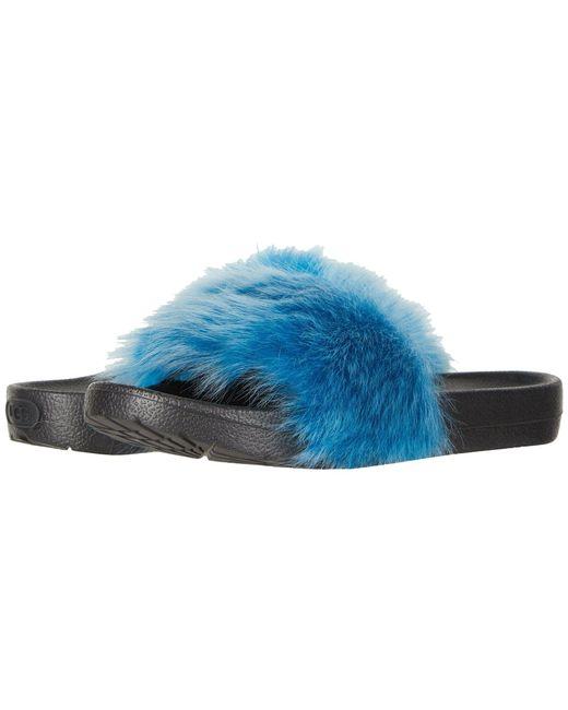 Ugg - Blue Royale Tipped (lemon Yellow) Women's Sandals - Lyst