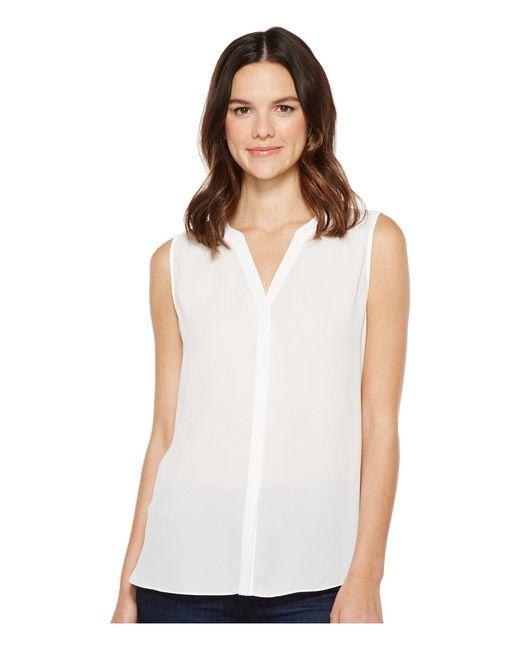 NYDJ - White Sleeveless Pintuck Pleat Back (ditsy Blooms Peacoat) Women's Sleeveless - Lyst