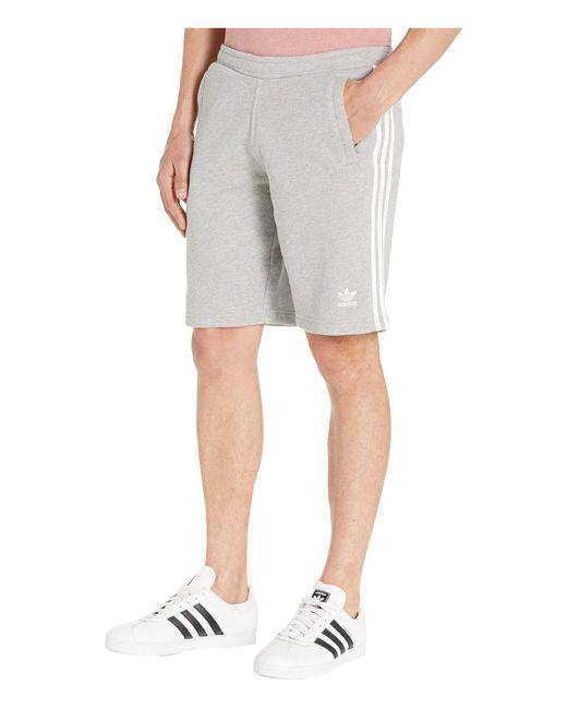 Adidas Originals Gray 3-stripes Shorts for men