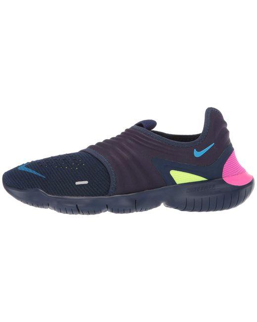 63e3607329a57 ... Nike - Blue Free Rn Flyknit 3.0 (black volt white) Men s Running ...