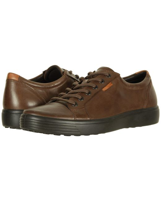 Ecco - Brown Soft 7 Sneaker (licorice) Men's Lace Up Casual Shoes for Men - Lyst
