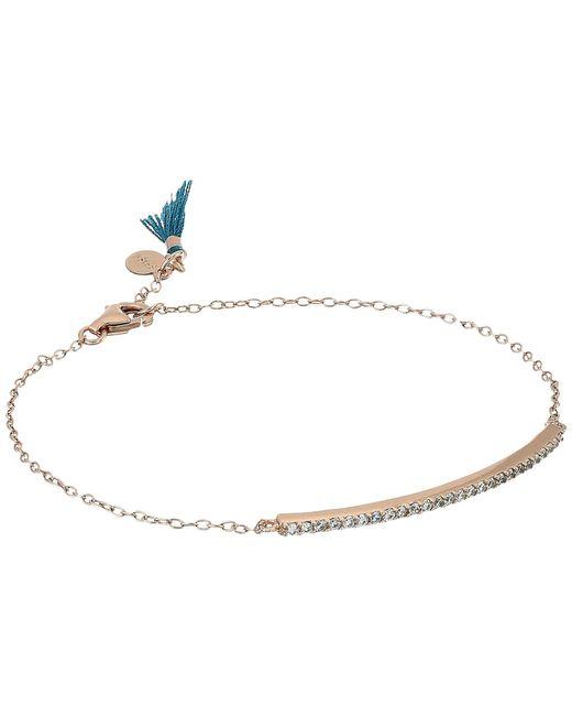 Shashi - Metallic Bar Pave Bracelet - Lyst
