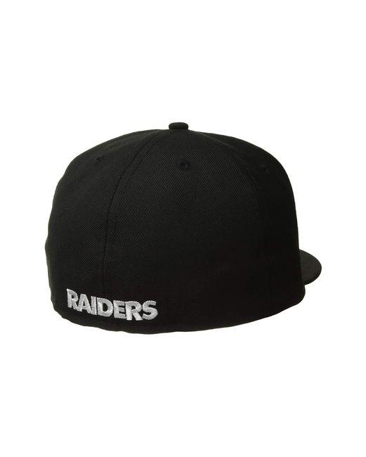 0b6ecb27014 Lyst - KTZ 59fifty(r) Oakland Raiders (black) Baseball Caps in Black ...