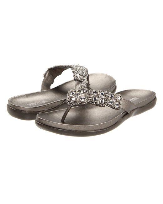 Kenneth Cole Reaction - Metallic Glam-athon (white Ii) Women's Sandals - Lyst