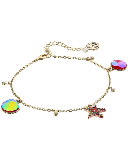 Betsey Johnson - Multicolor Starfish And Seashell Anklet - Lyst