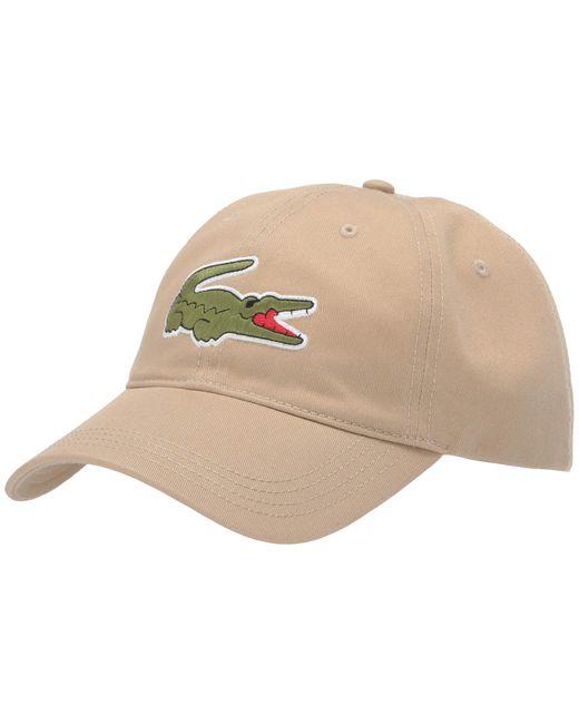 Lacoste Multicolor Big Croc Twill Leatherstrap Cap for men