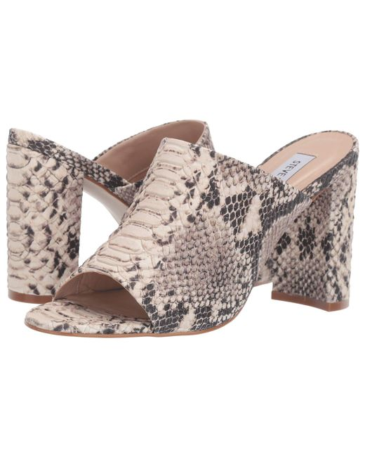 19f3b834f40 Steve Madden - Esmeralda Heeled Mule (natural Snake) Women s Clog Shoes ...