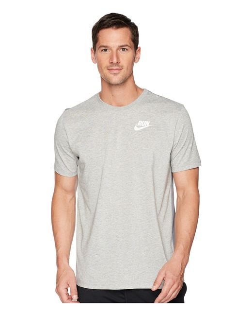 Nike - Gray Dry Tee Dri-fittm Solid Swoosh 18 for Men - Lyst