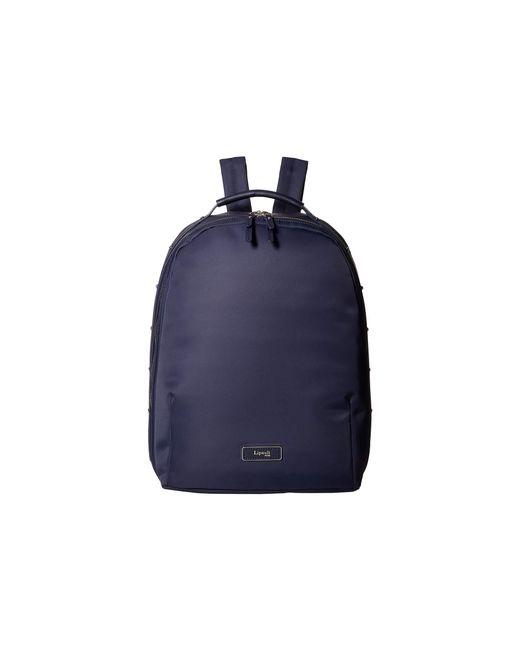Lipault Blue Business Avenue Medium Backpack