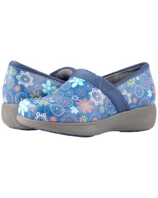 Softwalk® - Blue Grey's Anatomy Meredith Sport (floral Medallion Leather) Women's Slip On Shoes - Lyst