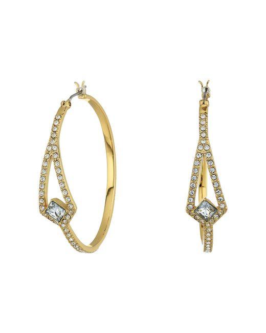 Vince Camuto - Metallic Crystal Pave Hoop Earrings (silver) Earring - Lyst