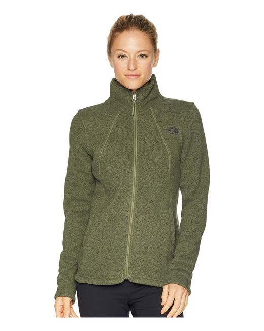 90149ddd92 The North Face - Green Crescent Full Zip (four Leaf Clover Heather) Women s  Coat ...