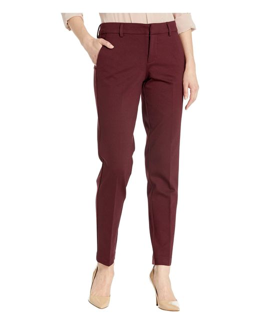 Liverpool Jeans Company Synthetic Kelsey Slim Leg Trousers In Super Stretch Ponte Knit In Red Save 3 Lyst