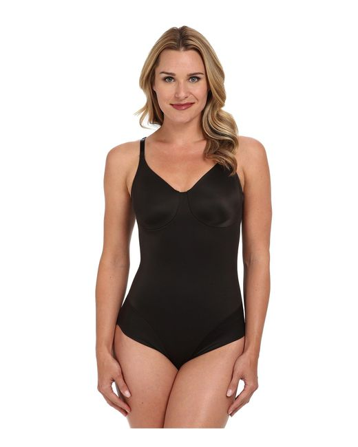 Miraclesuit Black Extra Firm Comfort Leg Smooth Molded Cup Bodybriefer