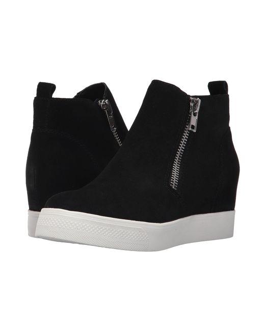 Lyst Steve Madden Wedgie Sneaker Black Suede Women S