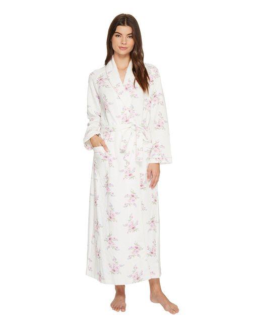 Carole Hochman | White Diamond Quilt Robe | Lyst