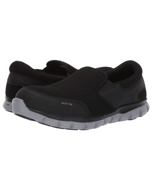 a6ddfc9572dc Reebok - Sublite Cushion Work Alloy Toe Eh Slip On (black) Men s Work Boots  ...